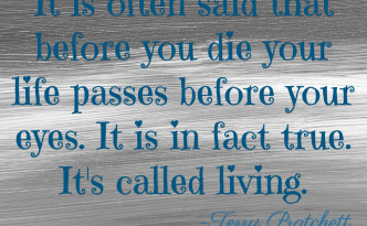 Life Passes Before Your Eyes Quote image