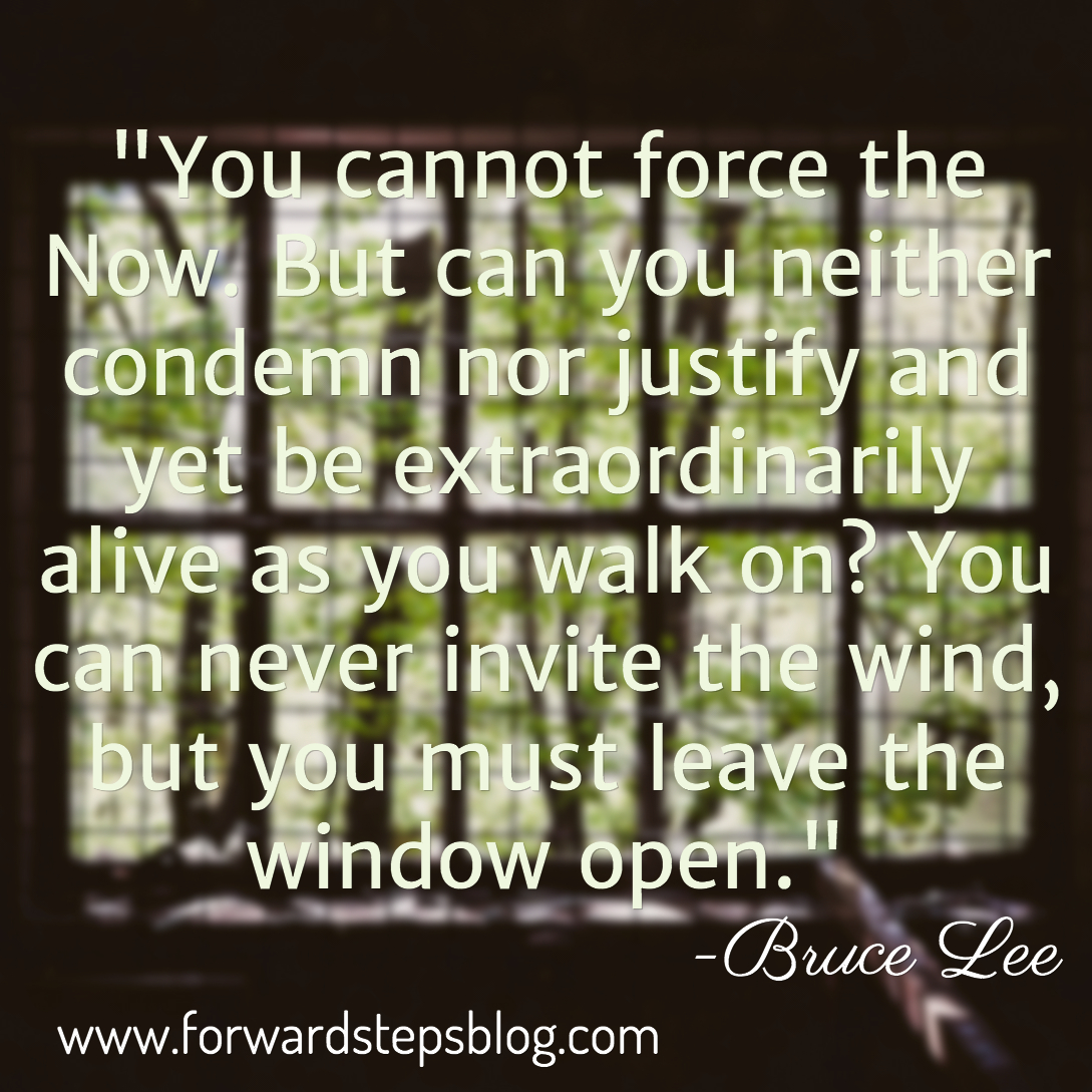 You Cannot Force The Now - Bruce Lee quote image