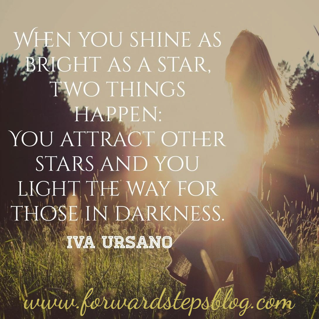 Shine like a star and attract stars quote image
